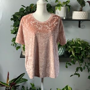 A new day pink floral top sz XXL